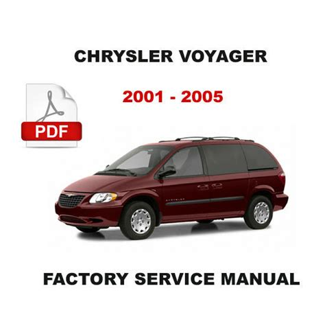 service manual 2001 chrysler voyager workshop manuals free pdf download dodge service repair 2001 2005 chrysler voyager 2 5 diesel engine factory service repair fsm manual chrysler