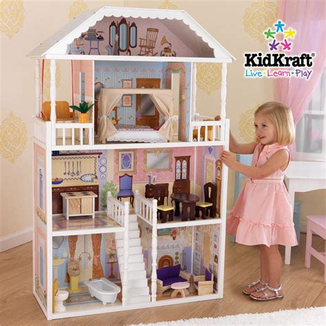 a doll house play brand new girls large doll house pretend play dollhouse toy fits barbie dolls ebay