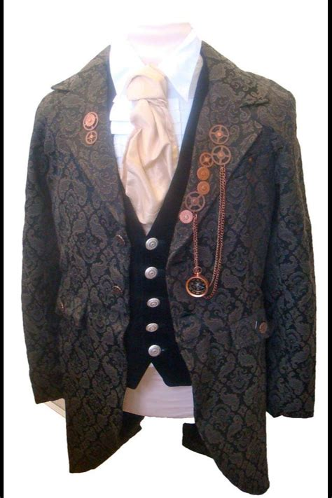 raven victorian steampunk mens outfit jacket shirt