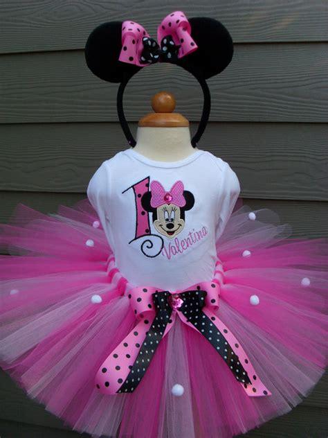 S  Ee  Birthday Ee   Minnie Mouse Pink And Black Number Tutu Set