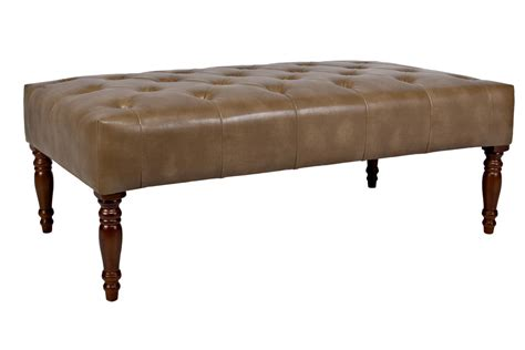 Leather Cocktail Ottoman Tufted Cocktail Brown Leather Ottoman At Gardner White