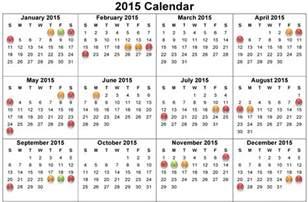 2015 Calendar Template With Holidays by 2015 Calendar With Holidays New Calendar Template Site