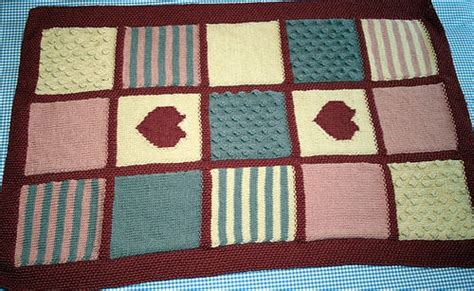 Knitted Patchwork Blanket Pattern - knitted patchwork blanket strikking