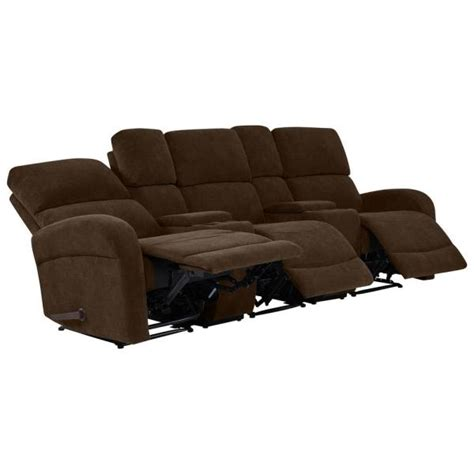 prolounger chocolate brown chenille  seat recliner sofa