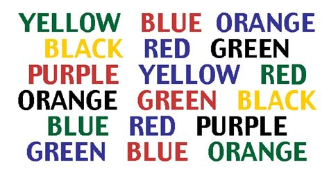 color word test mind concentration and color understanding the