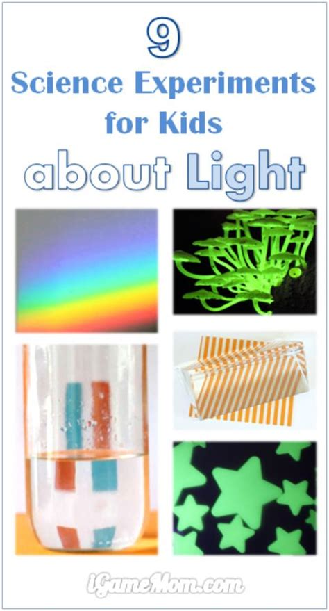 science project on light 9 science experiments about light for