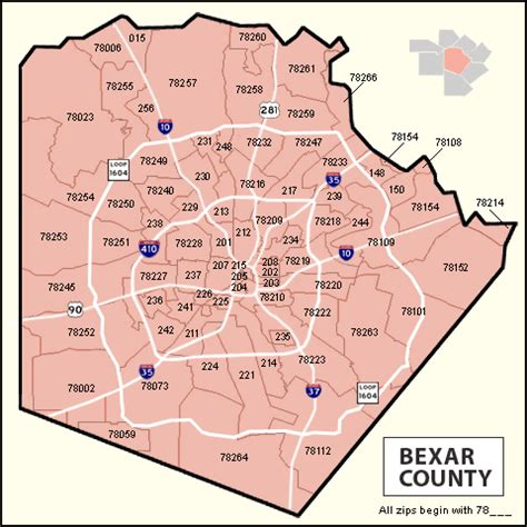 map of bexar county texas san antonio texas zip code map