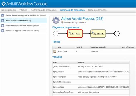 alfresco workflow console alfresco la console d administration des workflows