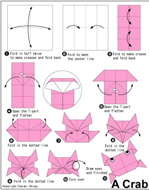 How To Make Origami Sea Animals - crab easy origami for