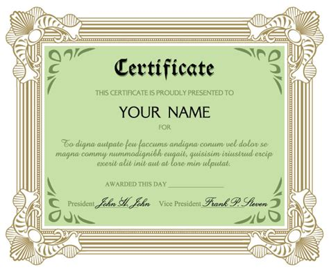 Commendation Certificate Template certificate of commendation vector free vector 4vector