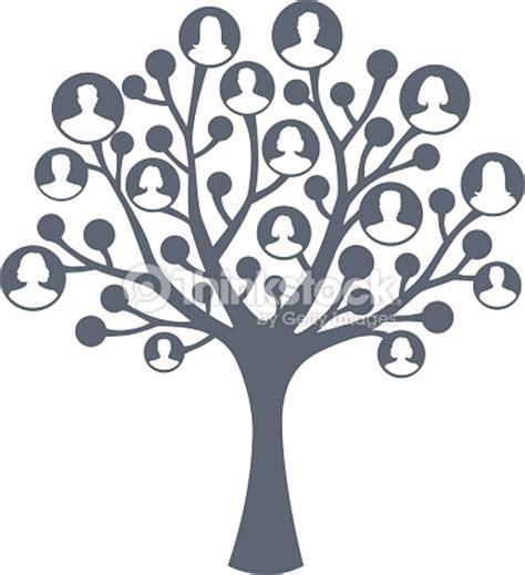 printable family tree silhouette arbre de concept de famille clipart vectoriel thinkstock