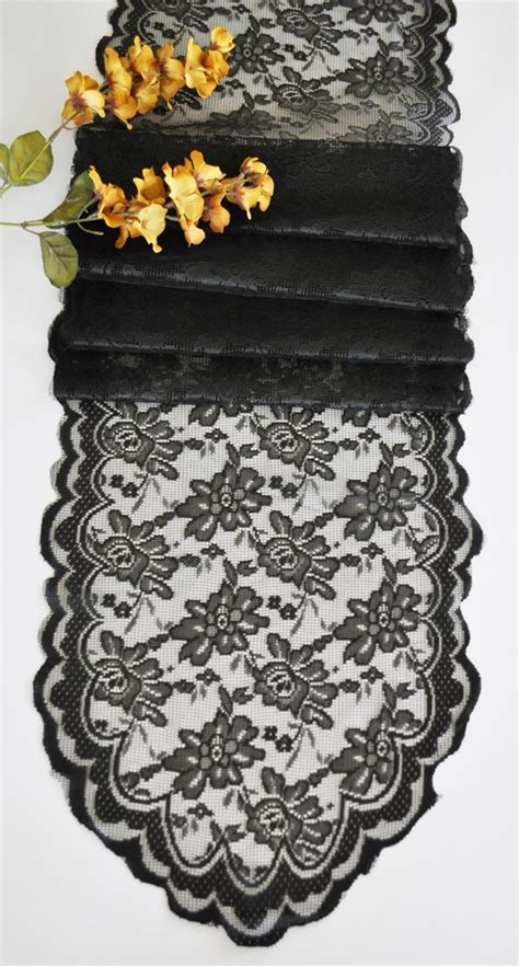black lace table runner black lace table runners wedding