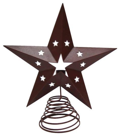 printable star christmas tree topper 13 quot barn red tin star tree topper farmhouse christmas