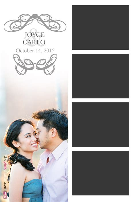 simple photo booth layout kelsey events joyce and carlo wedding press pink