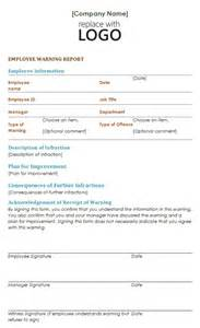 Employee Warning Notice Template by Employee Warning Notice Template Liputan Terkini Dan