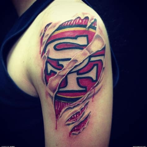 bay area tattoos 49ers artwork sf 49ers tattoosan francisco 49ers