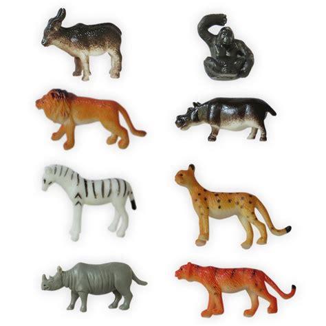 Wisebuy 12 New Plastic Animals Figures Set With Coconut Tree 8 plastic zoo figure jungle animals childrens toys