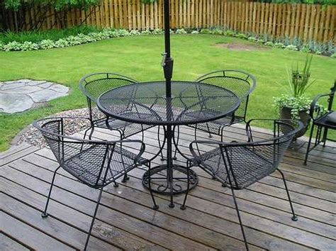 Metal Patio Table Set Wrought Iron Patio Furniture Raftertales Home