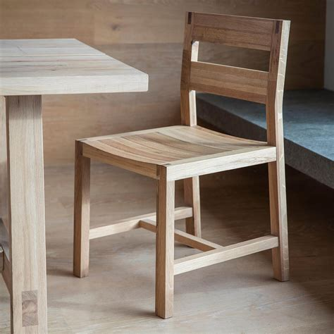 narrative solid oak dining chairs pair fads