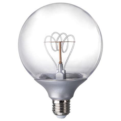 nittio led bulb e27 20 lumen globe silver colour 120 mm ikea