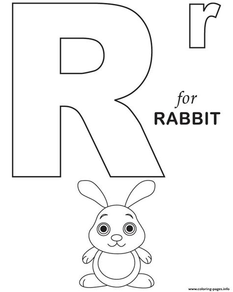 R For Rabbit Coloring Page by R For Rabbit Free Alphabet Sf2b8 Coloring Pages Printable