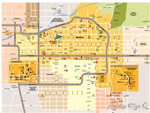 mesa map tourist attractions map travel