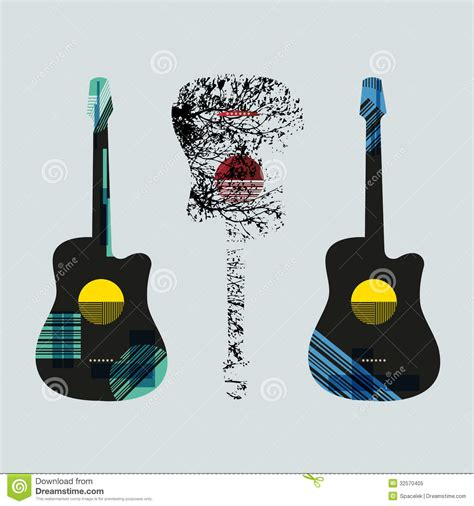 design guitar online guitar graphic art4 royalty free stock photo image 32570405
