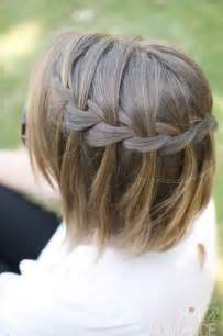 Hair styles romance waterfall braid in short hair popular haircuts