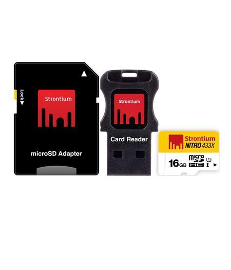 Strontium Micro Sd 16gb strontium 16gb nitro micro sd card 65mb s 3in1 buy