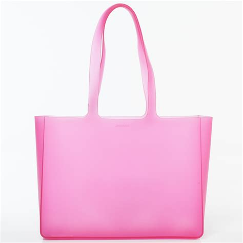 Bag Chanel Jelly chanel jelly rubber large tote pink 35777