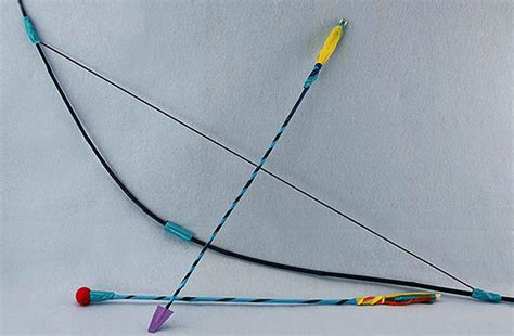 How To Make A Paper Arrow And Bow - diy archery handmade