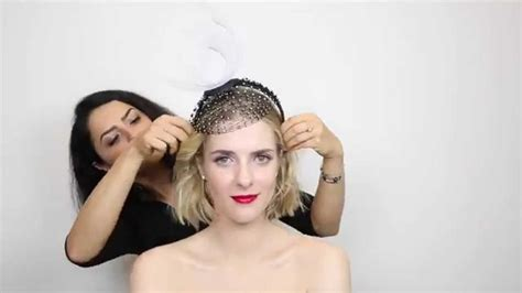 Can U Wear Use Hair Up With A Long Non Layered Bob | how to wear a fascinator different ways you can style