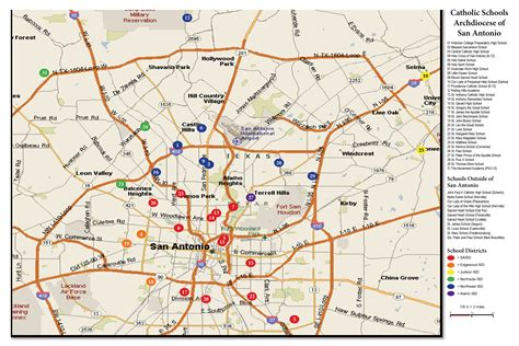 texas catholic diocese map map of schools archdiocese of san antonio