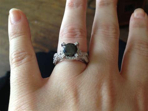 Black Engagement Ring On Finger Www Pixshark