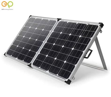 portable solar panel kits for home gp 12v 140w folding portable solar panel kit cing caravan home battery power