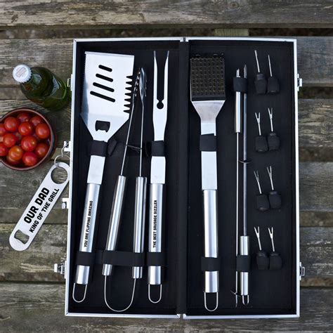 personalised barbecue tool set by auntie mims