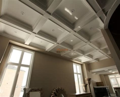 Coffered Ceiling Vs Waffle Ceiling Custom Millwork Wainscoting Panels Coffered Waffle Ceiling