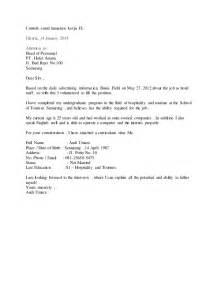 2 contoh surat lamaran hotel bahasa inggris http