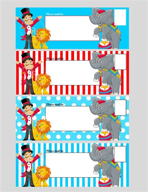carnival tickets template free printable 4 best images of printable circus templates blank circus