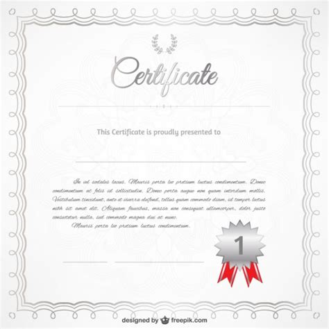 realistic certificate template vector free download