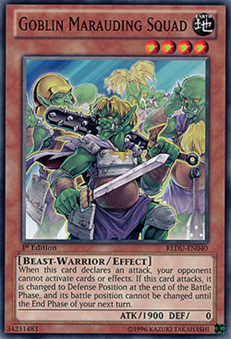 goblin deck goblin marauding squad return of the duelist boosterserien