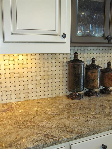 basketweave backsplash kitchen ideas