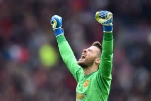Bench Celebration Manchester United David De Gea Still Happy At Old