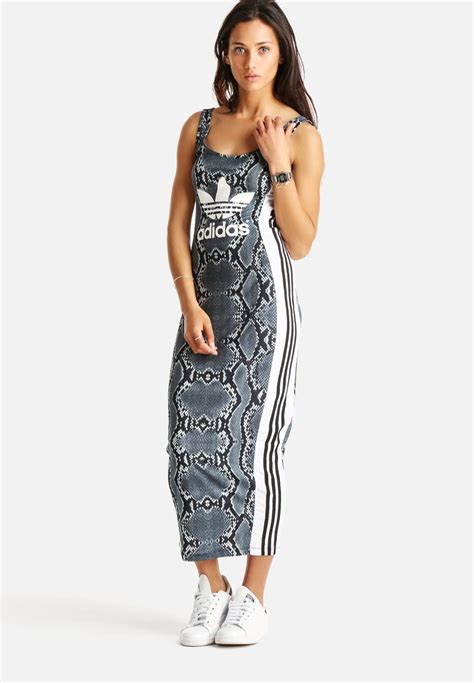 Adidas Maxi Dress la print dress multi colour adidas originals formal