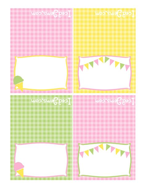 printable labels yellow pink green yellow party free printables
