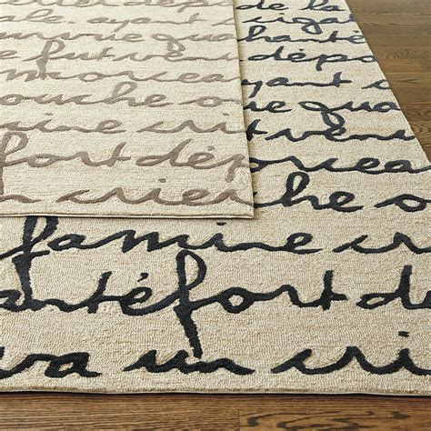 area rugs with words le poeme indoor outdoor rug