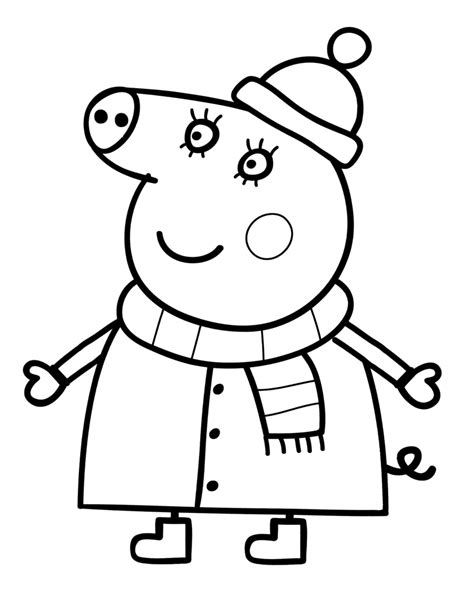 peppa pig winter coloring pages coloriages de dessins anim 233 s peppa pig page 2