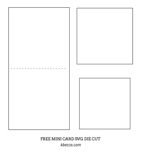 Quick Easy Die Cut Mini Card Free Svg Cut File Minis Salem S Lot And Templates Mini Card Template