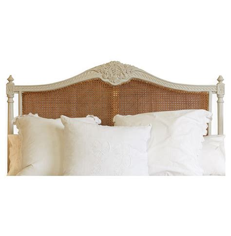 french country headboard louis xvi french country oyster natural cane queen