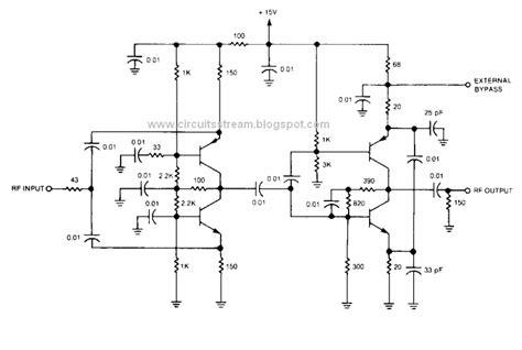 transistor rf lifier circuit simple rf isolation lifier circuit diagram